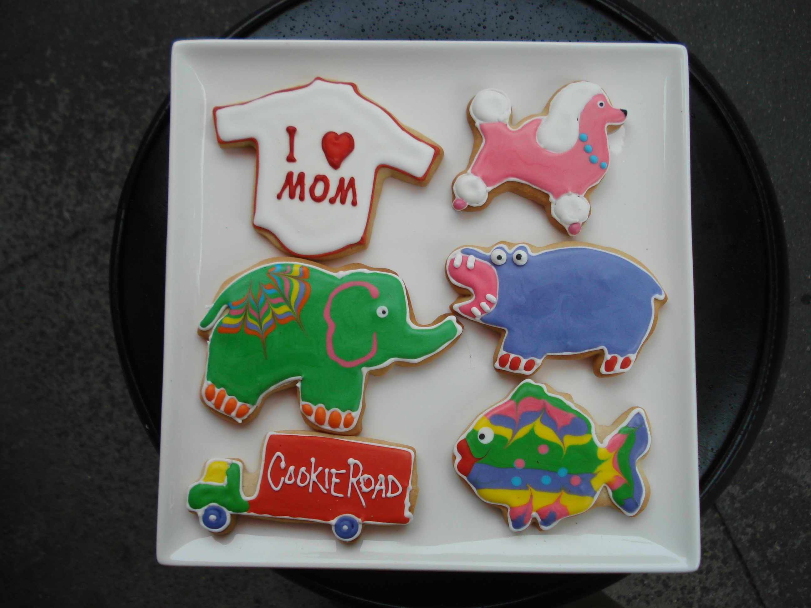 Decorated Cookies Cookie Road